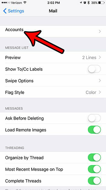 stop contact syncing from the email account 3