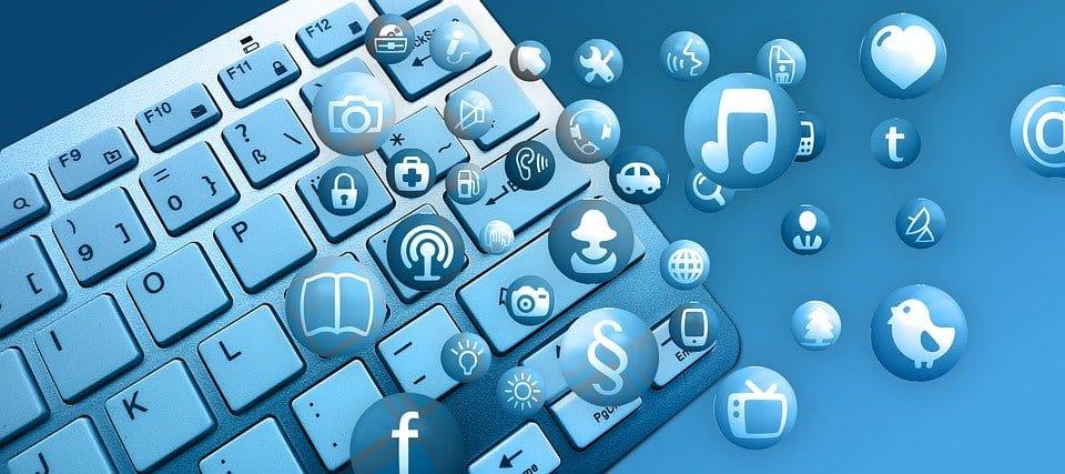 Online, Internet, Icon, Keyboard, Computer, Hardware