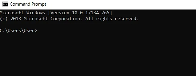 launch the command prompt
