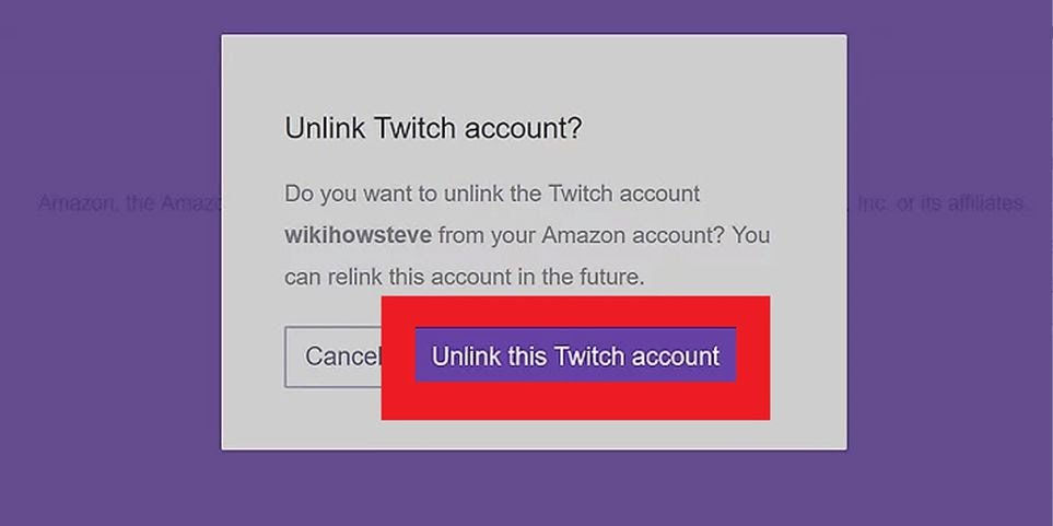 unlink twitch account